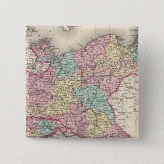 プロシアおよびザクセン 5.1CM 正方形バッジ