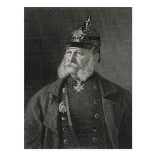 プロシアのウィリアムI王のポートレート ポストカード