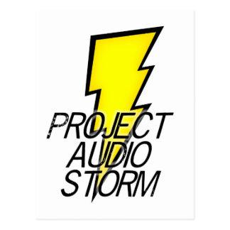 プロジェクトの音声の嵐 ポストカード