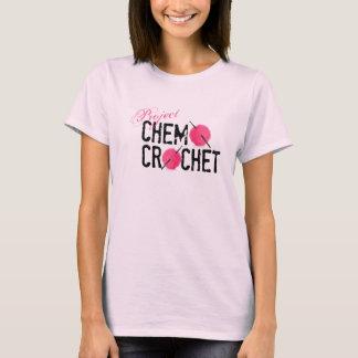 プロジェクトのChemoのかぎ針編みのロゴの女性のワイシャツ Tシャツ