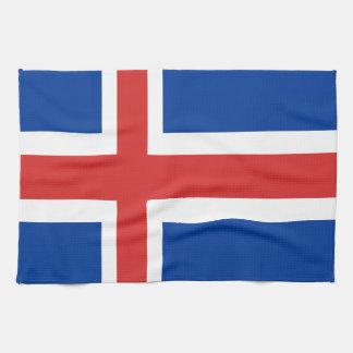 プロダクトのアイスランドの旗のデザイン キッチンタオル
