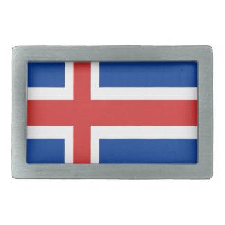 プロダクトのアイスランドの旗のデザイン 長方形ベルトバックル