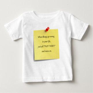 プロットのねじれのベビーのTシャツ ベビーTシャツ