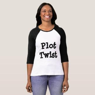 プロットのねじれの女性のTシャツ Tシャツ