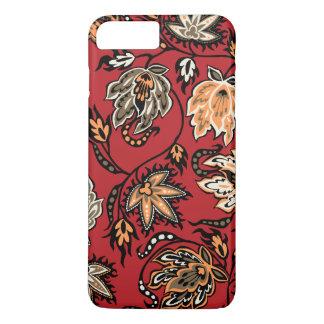 プロテアのろうけつ染めのハワイの熱帯花柄 iPhone 8 PLUS/7 PLUSケース