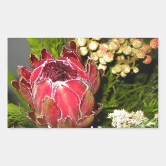 プロテアの花束 長方形シール