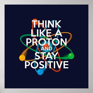 プロトンのように考え、前向きにとどまって下さい ポスター
