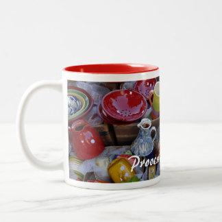 プロバンス陶器 ツートーンマグカップ