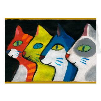 プロフィールで描かれる多彩な猫 カード