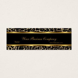 プロフィールの動物の金ゴールドの黒のエレガントで上品な細い スキニー名刺