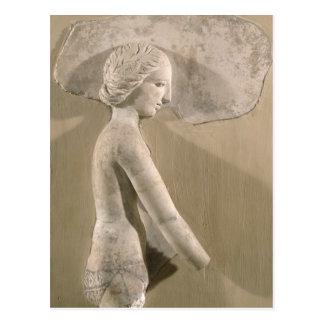 プロフィールの女性を描写するレリーフ、浮き彫り ポストカード