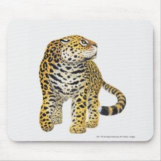 プロフィールの頭部を持つジャガーのイラストレーション マウスパッド