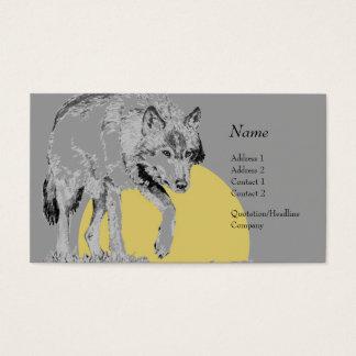 プロフィールカード-オオカミ 名刺