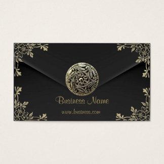 プロフィールビジネスセピア色の黒のビロードの一見 名刺