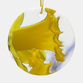 プロフィール-明るく黄色いラッパスイセン セラミックオーナメント
