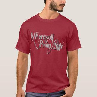 プロムナイトの灰色Wordmarkの狼人間 Tシャツ