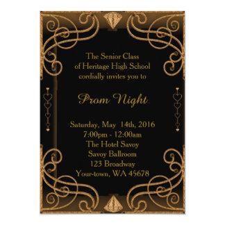 プロムナイトの黒及び金ゴールド カード