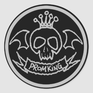 プロム王のステッカー 丸型シール