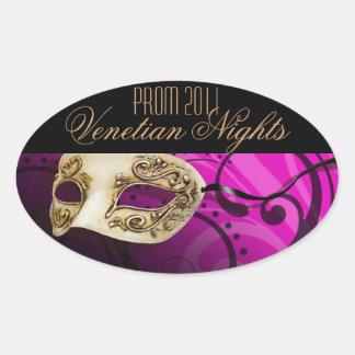 プロム2011ベニス風夜仮面舞踏会のパーティー 楕円形シール