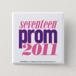 プロム2011年-紫色 5.1CM 正方形バッジ