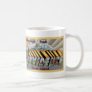 プロヴィデンスのヴィンテージの郵便はがきのマグからの挨拶 コーヒーマグカップ