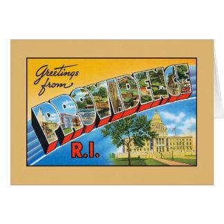 プロヴィデンスロードアイランドからのヴィンテージの挨拶 カード