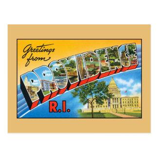 プロヴィデンスロードアイランドからのヴィンテージの挨拶 ポストカード
