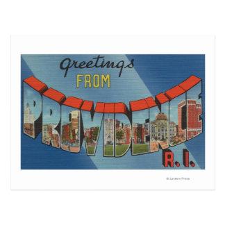 プロヴィデンス、ロードアイランド-大きい手紙場面 ポストカード