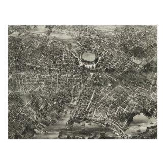 プロヴィデンスRI (1882年)のヴィンテージの絵解き地図 ポストカード