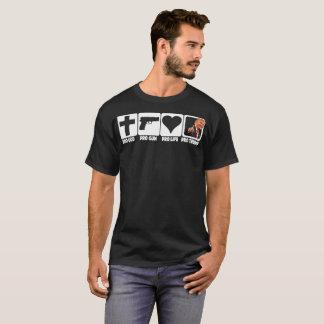 プロ神… 銃… 生命… 暗い生地の切札 Tシャツ