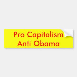 プロ資本主義のアンチオバマ バンパーステッカー