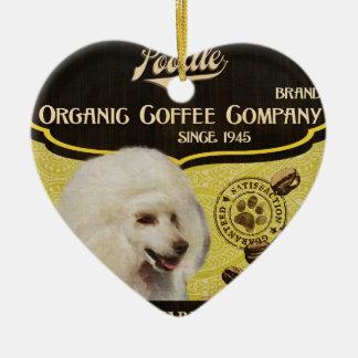 プードルのブランド- Organic Coffee Company セラミックオーナメント