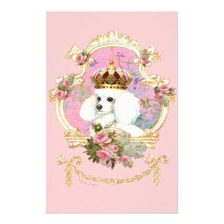 プードルのプリンセスnのピンクのバラ チラシ
