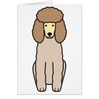 プードル犬の漫画 カード