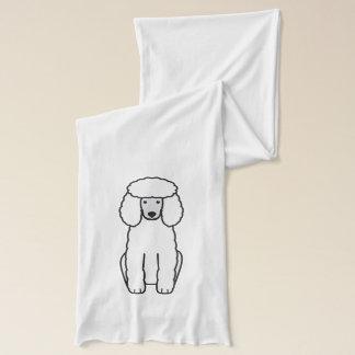 プードル犬の漫画 スカーフ