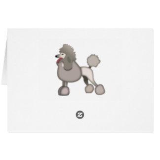 プードル犬- Emoji カード