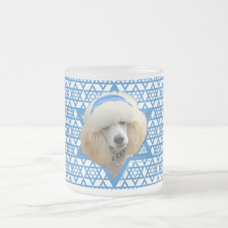 -プードル-ハヌカーのダビデの星杏子 フロストグラスマグカップ