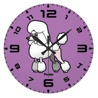 プードル ラージ壁時計