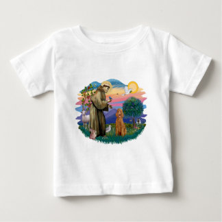 プードル(標準的な杏子) ベビーTシャツ