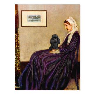 プードル(黒1) -ホイスラーの母 ポストカード