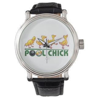 プールのひよこ 腕時計