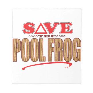 プールのカエルの保存 ノートパッド