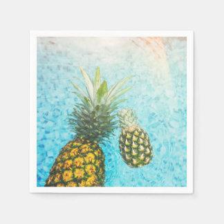 プールのパイナップル スタンダードカクテルナプキン