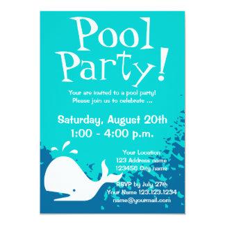プールのパーティの招待状 のカスタムの招待 カード