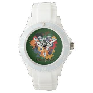 プールのビリヤードボールの腕時計 腕時計