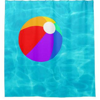 プールのビーチボール シャワーカーテン