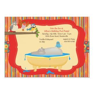 プールの招待状に皆 カード