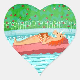 プールの時間ユニコーン ハートシール