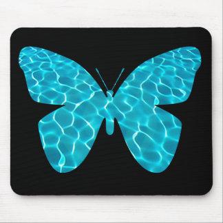 プールの蝶マウスパッド マウスパッド