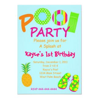 プールを囲んでのパーティ カード